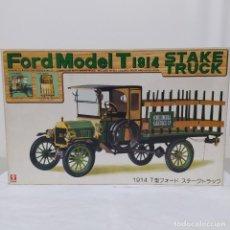 Maquetas: FORD MODEL T 1914 STAKE TRUCK ESCALATED 1/16. BANDAI 1974. COMPLETO, BOLSAS SIN ABRIR. Lote 221771061