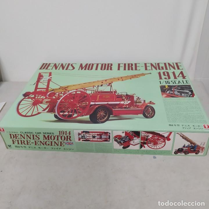 Maquetas: Dennis motor fire engine 1914 escala 1/16. Bandai 1972. Primer modelo. Completo - Foto 3 - 221775817