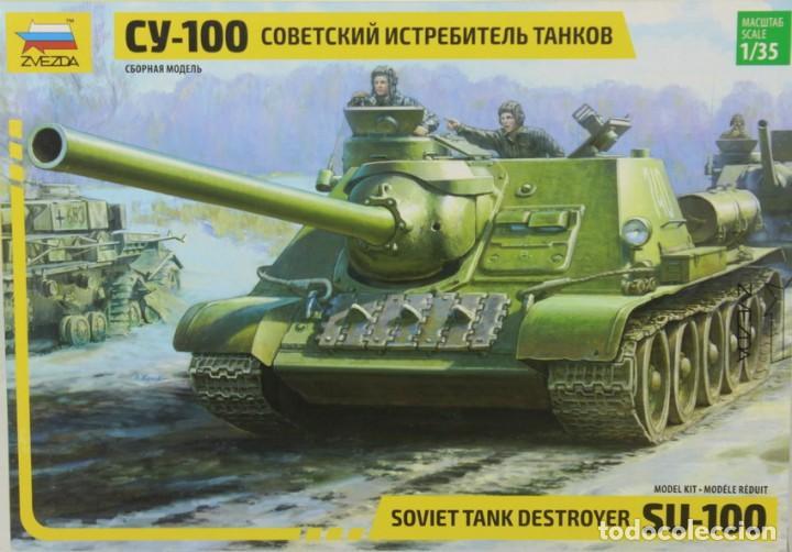 MAQUETA CAZA CARROS SU-100, REF. 3688, 1/35, ZVEZDA (Juguetes - Modelismo y Radiocontrol - Maquetas - Militar)