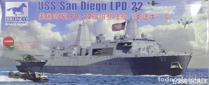 MAQUETA BARCO USS SAN DIEGO LPD-22, REF. NB 5038, 1/350, BRONCO (Juguetes - Modelismo y Radiocontrol - Maquetas - Barcos)