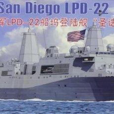 Maquetas: MAQUETA BARCO USS SAN DIEGO LPD-22, REF. NB 5038, 1/350, BRONCO. Lote 221840830
