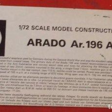 Maquetas: INSTRUCCIONES DE MONTAJE DEL ARADO AR-196 A-3 DE AIRFIX. ESCALA 1/72. Lote 221892281