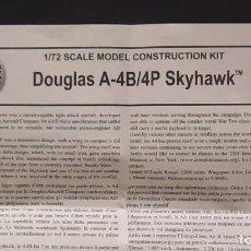 Maquetas: INSTRUCCIONES DE MONTAJE DEL DOUGLAS A-4B/P DE AIRFIX. ESCALA 1/72. Lote 221895732
