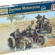 Maquetas: ITALERI - GERMAN MOTORCYCLES WWII 1/72 6121. Lote 221950151