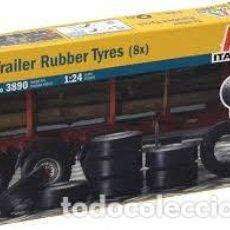 Maquetas: ITALERI - TRAILER RUBBER TYRES 1/24 3890. Lote 221951478