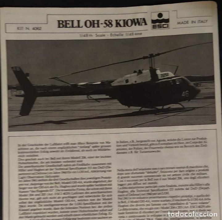 INSTRUCCIONES DE MONTAJE DEL BELL OH-58 DE ESCI. ESCALA 1/48 (Juguetes - Modelismo y Radio Control - Maquetas - Aviones y Helicópteros)