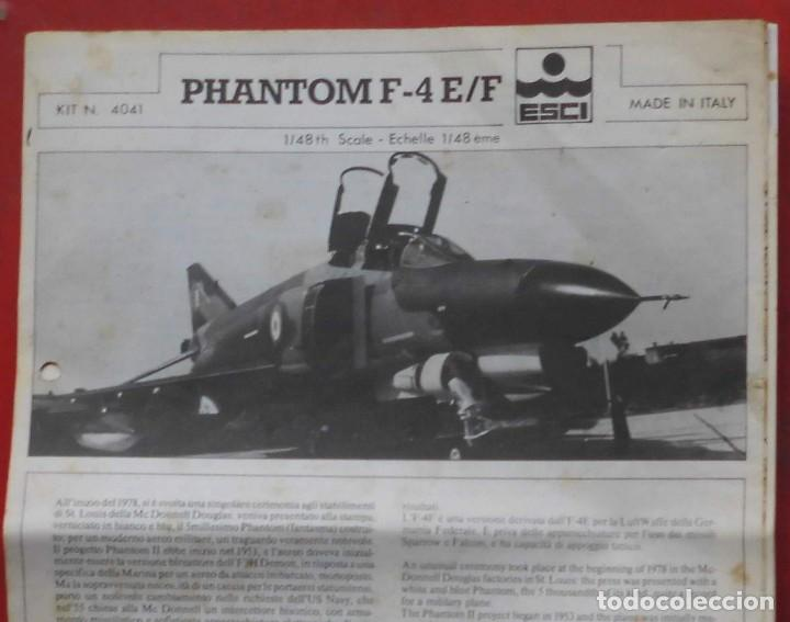 INSTRUCCIONES DE MONTAJE DEL MCDONNELL DOUGLAS F-4 E/F DE ESCI. ESCALA 1/48 (Juguetes - Modelismo y Radio Control - Maquetas - Aviones y Helicópteros)