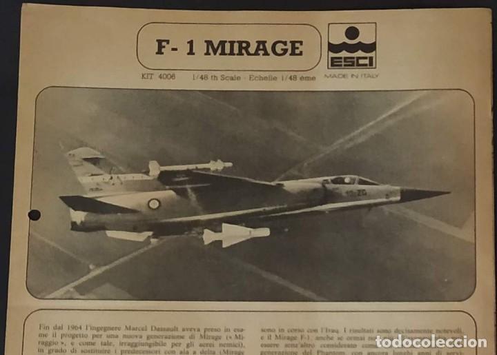 INSTRUCCIONES DE MONTAJE DEL MIRAGE F-1 DE ESCI. ESCALA 1/48 (Juguetes - Modelismo y Radio Control - Maquetas - Aviones y Helicópteros)