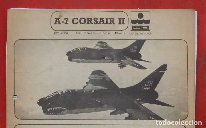 INSTRUCCIONES DE MONTAJE DEL VOUGHT A-7 DE ESCI. ESCALA 1/48 (Juguetes - Modelismo y Radio Control - Maquetas - Aviones y Helicópteros)