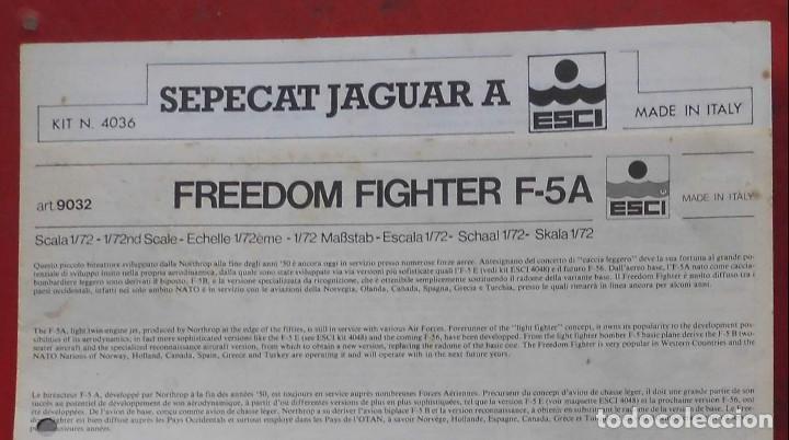 INSTRUCCIONES DE MONTAJE DEL SEPECAT JAGUAR A DE ESCI. ESCALA 1/72 (Juguetes - Modelismo y Radio Control - Maquetas - Aviones y Helicópteros)