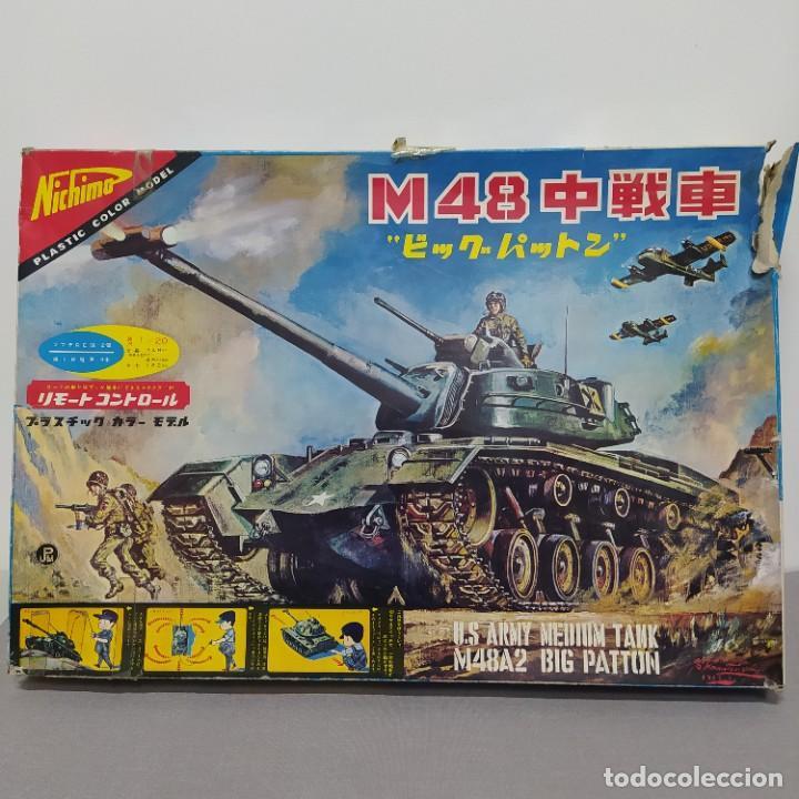 U. S. ARMY MEDIUM TANK M48A2 BIG PATTON 1/20 NICHIMO 1963. FALTA CABLEADO Y MOTORES (Juguetes - Modelismo y Radiocontrol - Maquetas - Militar)
