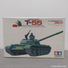 Maquetas: T 55 SOVIET UNION 36TON MEDIUM TANK TAMIYA 1/35. NUEVO, BOLSAS SIN ABRIR.. Lote 222124312