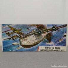 Maquetas: SUNDERLAND III AIRFIX ESCALA 1/72 NUEVO, SIN MONTAR.1964. Lote 222321200