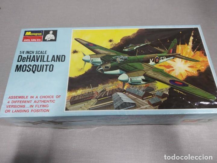 DEHAVILLAND MOSQUITO MONOGRAM , ESCALA 1/4 NUEVO. (Juguetes - Modelismo y Radio Control - Maquetas - Aviones y Helicópteros)