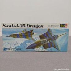 Maquetas: SAAB J-35 DRAGÓN 1/72 REVELL. NUEVO Y COMPLETO.. Lote 222480058