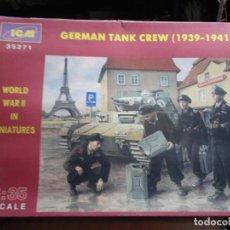 Maquetas: ICM 35271 - 1:35 - GERMAN TANK CREW (1939-1941). Lote 222613315