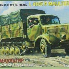 Maquetas: MAQUETA CAMIÓN MERCEDES L 4500 R MAULTIER, 1/35, REF. 3603, ZVEZDA. Lote 222613900