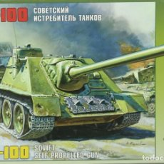 Maquetas: MAQUETA CAZA CARROS SU-100, 1/35, REF. 3531, ZVEZDA. Lote 222614236