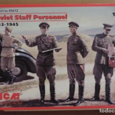 Maquetas: ICM 35612 SOVIET STAFF PERSONNEL 1943-45 1/35. Lote 222650813