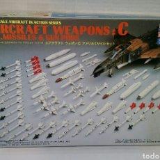 Maquetas: HASEGAWA AIRCRAFT WEAPONS C. U.S MISSILES & GUN PODS. NUEVO. ESCALA 1/48. 1987. X48-3. HOBBY KITS.. Lote 222928613