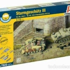 Maquetas: 7522 ITALERI 1/72 STURMGESCHUTZ III - FAST ASSEMBLY -. Lote 223082467