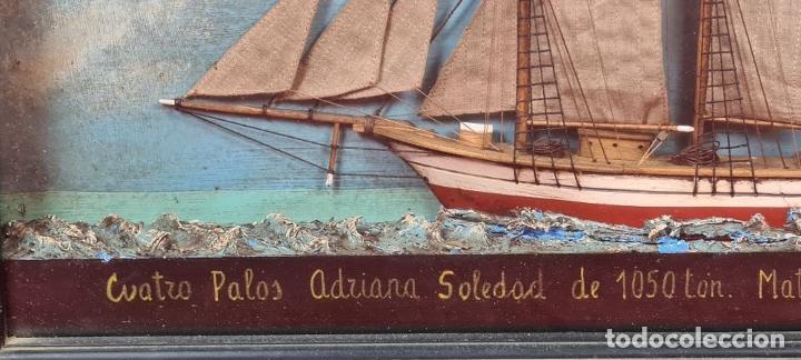 Maquetas: MAQUETA EN VITRINA DEL BARCO ADRIANA SOLEDAD. CAPITAN J. PUJADAS. 1926. SIGLO XX. - Foto 2 - 223598893
