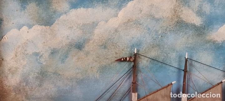 Maquetas: MAQUETA EN VITRINA DEL BARCO ADRIANA SOLEDAD. CAPITAN J. PUJADAS. 1926. SIGLO XX. - Foto 3 - 223598893