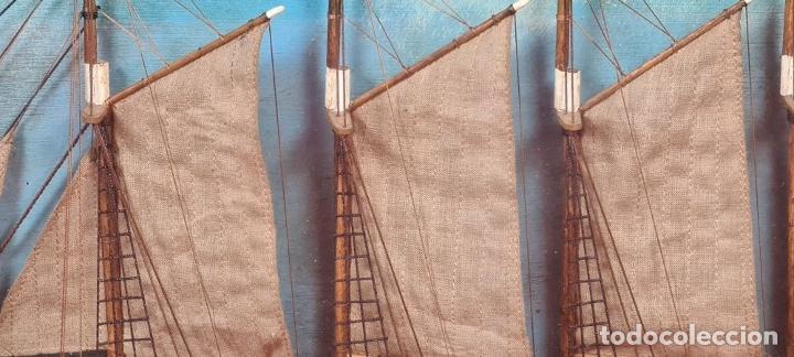 Maquetas: MAQUETA EN VITRINA DEL BARCO ADRIANA SOLEDAD. CAPITAN J. PUJADAS. 1926. SIGLO XX. - Foto 7 - 223598893