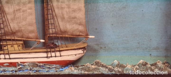 Maquetas: MAQUETA EN VITRINA DEL BARCO ADRIANA SOLEDAD. CAPITAN J. PUJADAS. 1926. SIGLO XX. - Foto 10 - 223598893