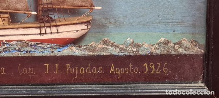 Maquetas: MAQUETA EN VITRINA DEL BARCO ADRIANA SOLEDAD. CAPITAN J. PUJADAS. 1926. SIGLO XX. - Foto 12 - 223598893
