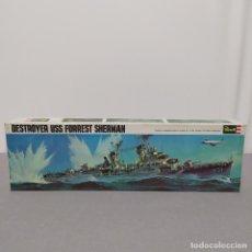 Maquetas: DESTROYER USS FORREST SHERMAN. REVELL H. 459 ESCALA 1/320 AÑO 1968. NUEVO, BOLSA SIN ABRIR. Lote 223913386