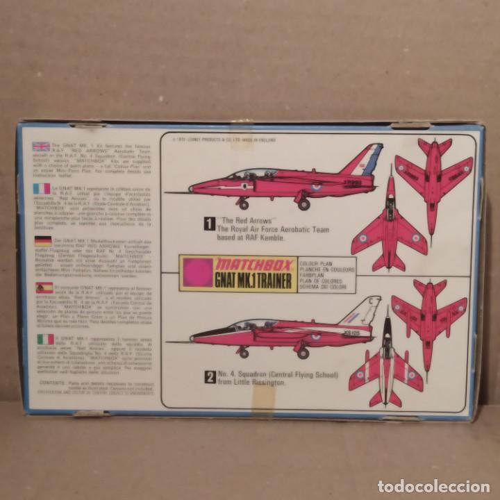 Maquetas: Gnat MK.1 trainer matchbox escala 1/72. Pk-15. Año 1972. Nueva - Foto 2 - 223977497