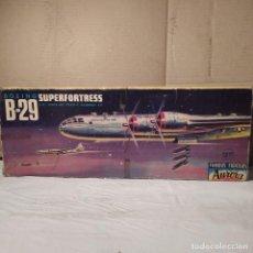 Maquetas: BOEING B-29 SUPERFORTRESS AURORA ESCALA 1/76. AÑO 1957. NUEVO Y COMPLETO.. Lote 223997540