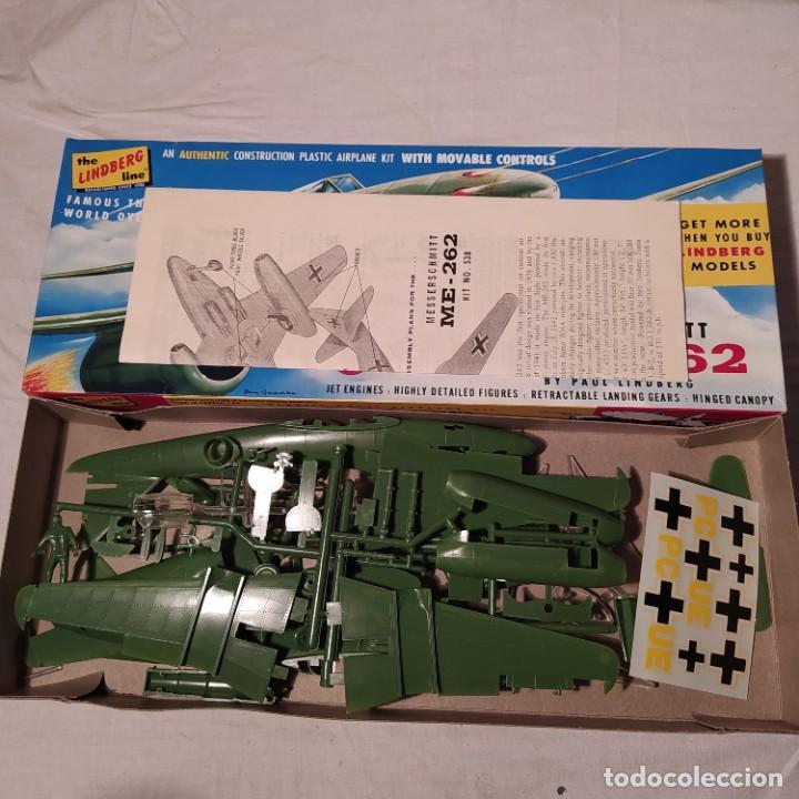 Maquetas: Messerschmitt Me-262 Lindberg 1/48. Año 1957. Nueva y completa - Foto 2 - 223998456