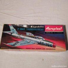 Maquetas: F 84 F THUNDERSTREAK AEROPLAST. NUEVA Y COMPLETA. Lote 223999157