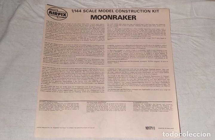 Maquetas: James Bond 007 Moonraker spaceship Airfix 1/144. Año 1979. Nuevo sin abrir. - Foto 14 - 224115703