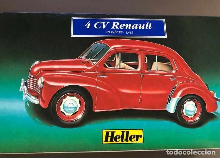 """MAQUETA """"HELLER"""" DE 4CV RENAULT - 1/43 - 40 PIEZAS (Juguetes - Modelismo y Radiocontrol - Maquetas - Coches y Motos)"""