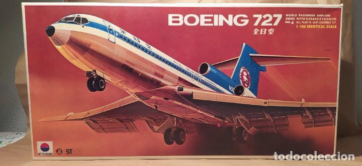 BOEING 727 NITTO KAGAKU N°190-500 N° 4 ESCALA 1/100. NUEVO, BOLSAS PRECINTADAS. (Juguetes - Modelismo y Radio Control - Maquetas - Aviones y Helicópteros)