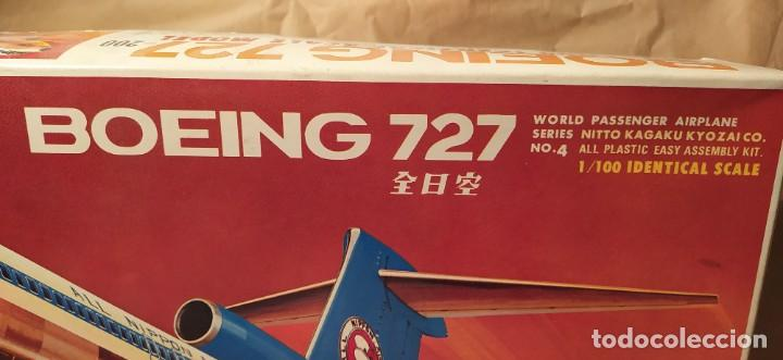 Maquetas: Boeing 727 Nitto kagaku n°190-500 n° 4 escala 1/100. Nuevo, bolsas precintadas. - Foto 2 - 224257462