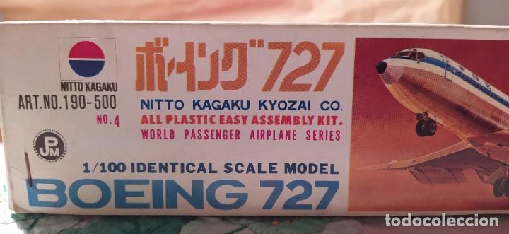 Maquetas: Boeing 727 Nitto kagaku n°190-500 n° 4 escala 1/100. Nuevo, bolsas precintadas. - Foto 4 - 224257462