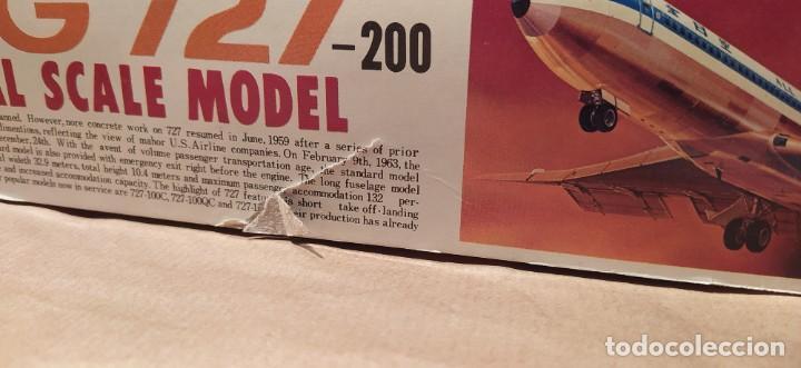 Maquetas: Boeing 727 Nitto kagaku n°190-500 n° 4 escala 1/100. Nuevo, bolsas precintadas. - Foto 6 - 224257462