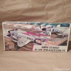 Maquetas: F-4B PHANTOM II AIRFIX-72 SCALE N°388 AÑO 1965. NUEVA, SIN MONTAR. Lote 224389498