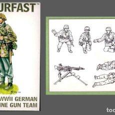 Maquettes: 99007 ARMOURFAST 1/72 GERMAN MACHINE GUN TEAM WW II , 1 SPRUE / 1 PLANCHA. Lote 224523740