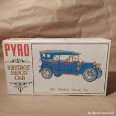 Maquetas: 1912 PACKARD TOURING CAR. PYRO VINTAGE BRASS CAR, NUEVO. Lote 224548400