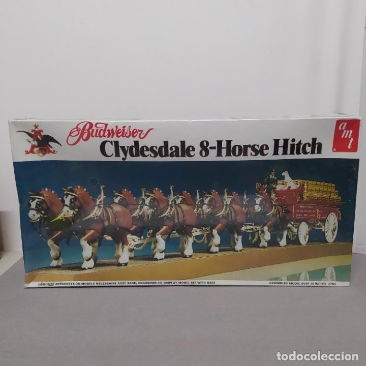 BUDWEISER CLYDESDALE 8 HORSE HITCH ESCALA 1/20 DE AMT. CAJA PRECINTADA (Juguetes - Modelismo y Radiocontrol - Maquetas - Coches y Motos)