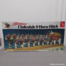 Maquetas: BUDWEISER CLYDESDALE 8 HORSE HITCH ESCALA 1/20 DE AMT. CAJA PRECINTADA. Lote 224606417