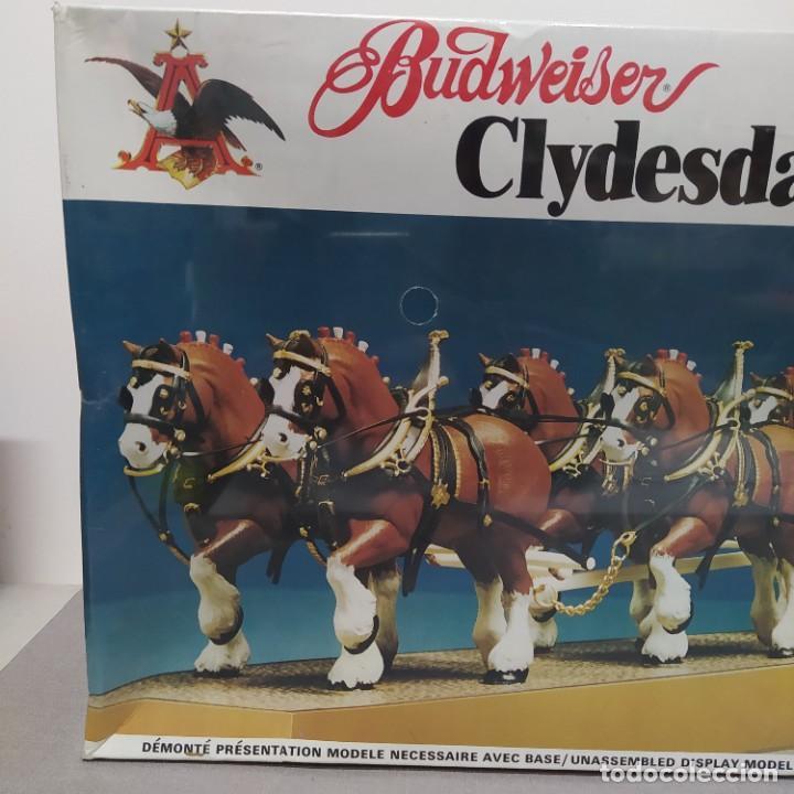 Maquetas: Budweiser Clydesdale 8 horse hitch escala 1/20 de AMT. Caja precintada - Foto 2 - 224606417