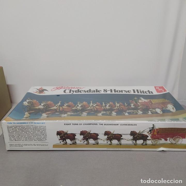 Maquetas: Budweiser Clydesdale 8 horse hitch escala 1/20 de AMT. Caja precintada - Foto 4 - 224606417