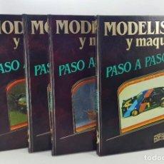 Maquetas: MODELISMO Y MAQUETAS PASO A PASO - 4 TOMOS COMPLETA - HOBBY PRESS 1984 - BUEN ESTADO. Lote 224739327