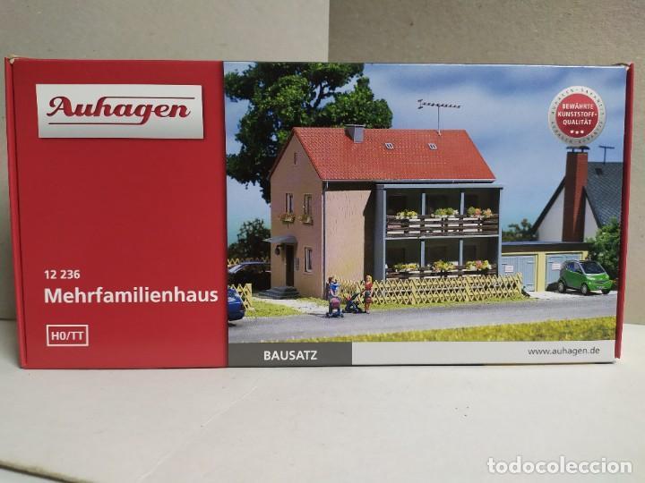 CASA FAMILIAR 2 PLANTAS , AUHAGEN 12 236, ESCALA HO/TT (Juguetes - Modelismo y Radiocontrol - Maquetas - Construcciones)